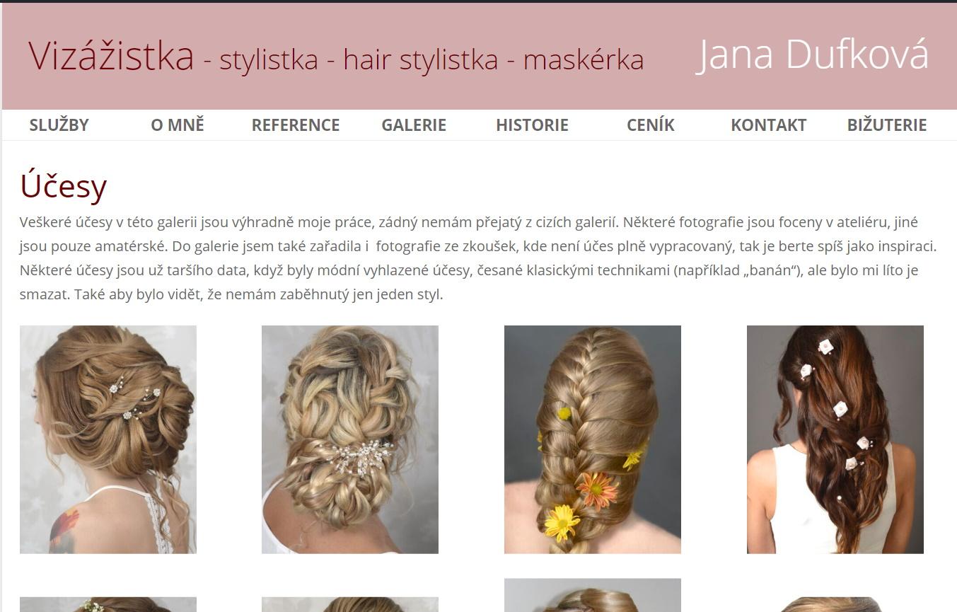 Vizážistka Jana Dufková